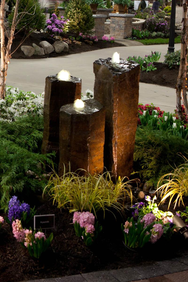 Basalt Rock Gardening : Piece basalt rock fountain weaver s landscape company