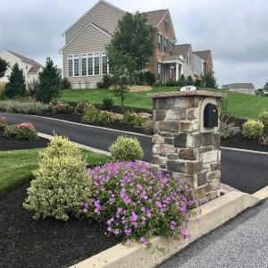 Stone Mailbox Columns